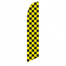 Solid Black and Yellow Feather Flag 12ft Poly Knit