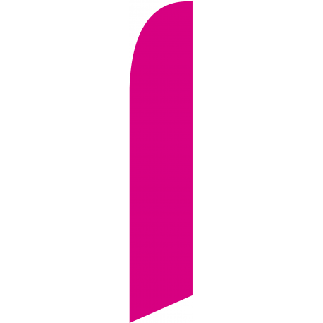 Solid Magenta Feather Flag 12ft Poly Knit width=