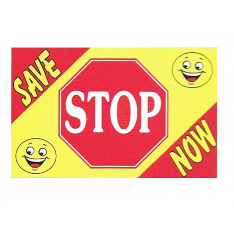 Stop Save Now Flag 3x5 width=