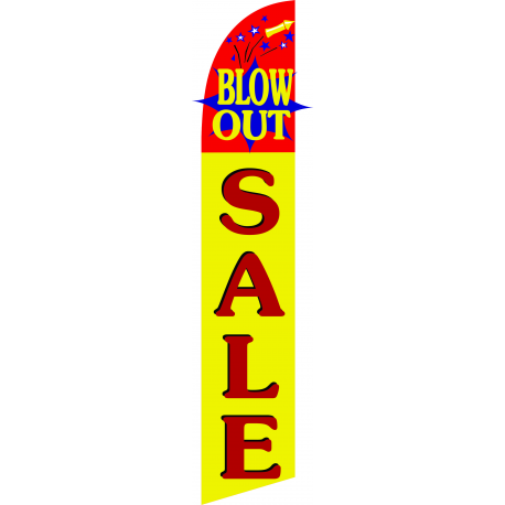 Blowout Sale Feather Flag Yellow & Red 12ft Poly Knit width=