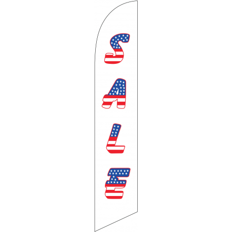 Sale Feather Flag Patriotic 12ft Poly Knit width=