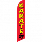 Karate Feather Flag Red & Yellow 12ft Poly Knit