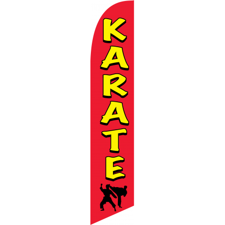 Karate Feather Flag Red & Yellow 12ft Poly Knit width=