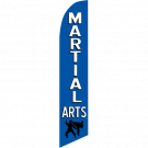 Martial Arts Feather Flag Blue 12ft Poly Knit