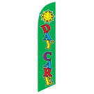 Daycare Feather Flag Green 12ft Poly Knit