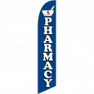 Pharmacy Feather Flag Blue 12ft Poly