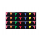 Multicolor Poly Triangle 12x18 Pennants 50'