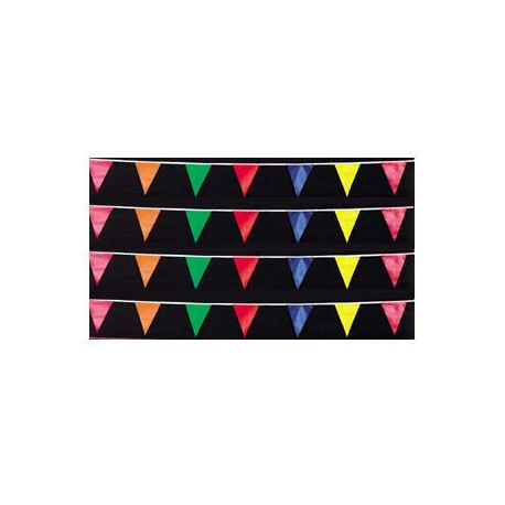 Multicolor Poly Triangle 12x18 Pennants 50' width=