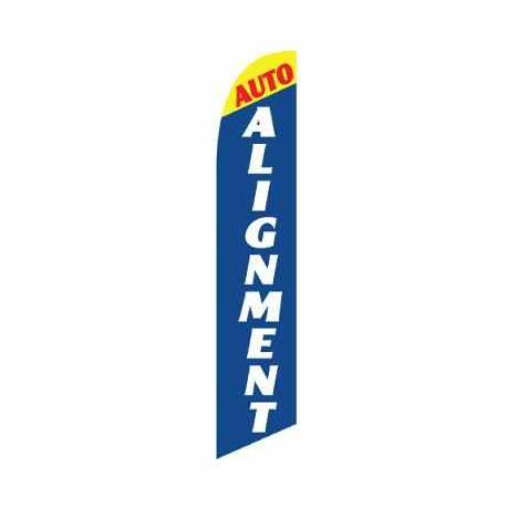 Auto Alignment Feather Flag Blue & Yellow 12ft Poly Knit width=