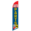 Auto Parts Feather Flag Blue & Red 12ft Poly Knit