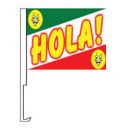 Hola Clip-On Car Flag. Qty 6