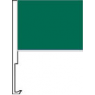 Dark Green Clip-On Car Flag. Qty 6