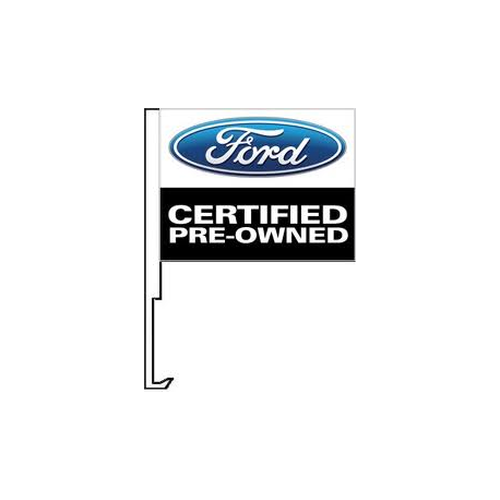 Ford Certified Pre Owend Clip-On Car Flag. Qty 6 width=