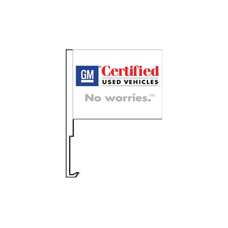 GM Certified Used Vehicles Clip-On Car Flag. Qty 6 width=