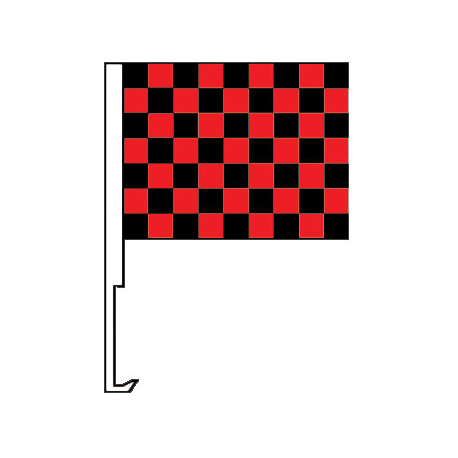 Black And Red Clip-On Car Flag. Qty 6 width=