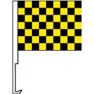 Black And Yellow Clip-On Car Flag. Qty 6
