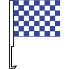 White And Blue Clip-On Car Flag. Qty 6