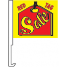 Red Tag Sale Clip-On Car Flag. Qty 6