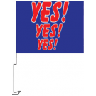 YES YES YES Clip-On Car Flag. Qty 6