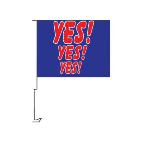 YES YES YES Clip-On Car Flag. Qty 6 width=
