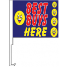 Best Buys Here Clip-On Car Flag. Qty 6