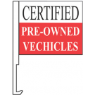 Certified Pre Owned Vechicles Clip-On Car Flag. Qty 6