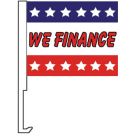 We Finance Clip-On Car Flag. Qty 12