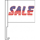 Sale(American)Clip-On Car Flag. Qty 6