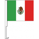 Mexico Clip-On Car Flag. Qty 6
