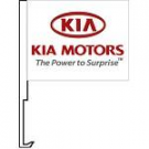 Kia Motors Clip-On Car Flag. Qty 6