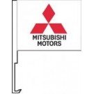 Mitsubishi Clip-On Car Flag. Qty 6