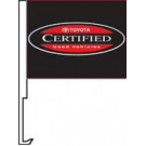 Toyota Certified Used Vehicles Clip-On Car Flag. Qty 6