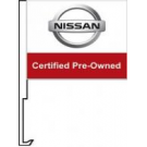 Nissan Certified Pre Owned Clip-On Car Flag. Qty 6
