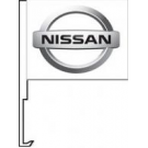 Nissan Clip-On Car Flag. Qty 6