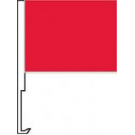 Red Clip-On Car Flag. Qty 6