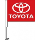 Toyota Clip-On Car Flag. Qty 6
