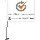 Certified Pre Owned Clip-On Car Flag. Qty 6