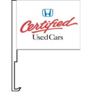 Honda Certified Used Cars Clip-On Car Flag. Qty 6