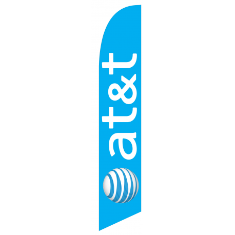 at&t Feather Flag Blue 12ft Poly Knit width=