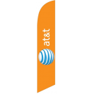 AT&T Feather Flag Orange 12ft Poly Knit