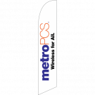 Metro Pcs Wireless For All Feather Flag White 12ft Poly Knit