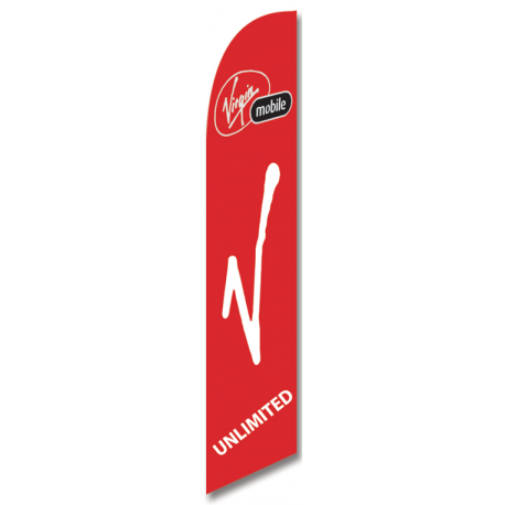 Virgin Mobile Feather Flag width=