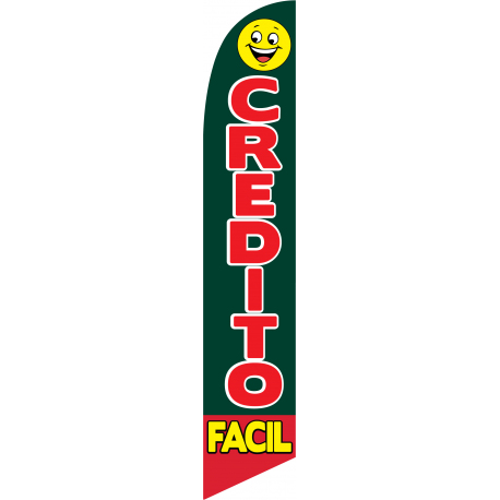 Credito Facil Feather Flag width=