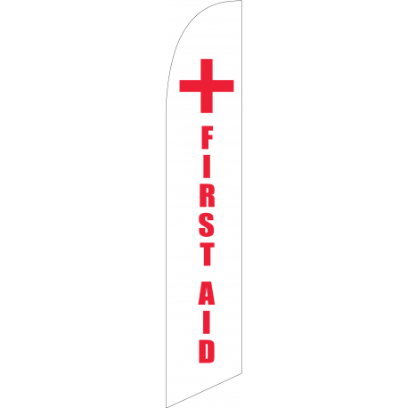 First Aid Feather Flag width=