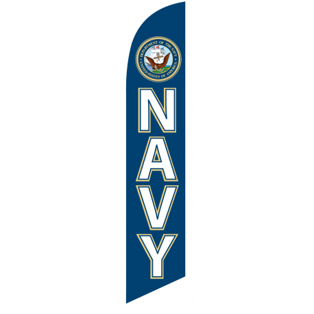 Navy Feather Flag width=