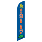 Summer Camp Feather Flag Blue 12ft Poly Knit