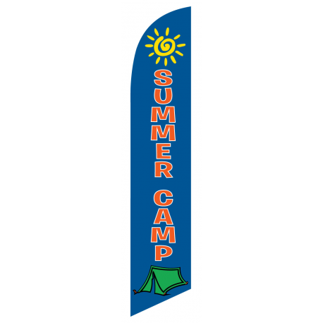 Summer Camp Feather Flag Blue 12ft Poly Knit width=