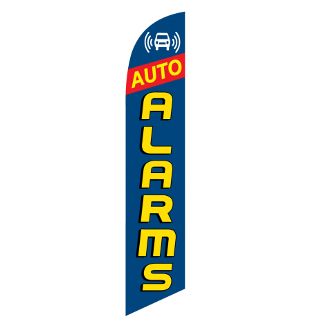 Auto Alarms Feather Flag Blue 12ft Poly Knit width=