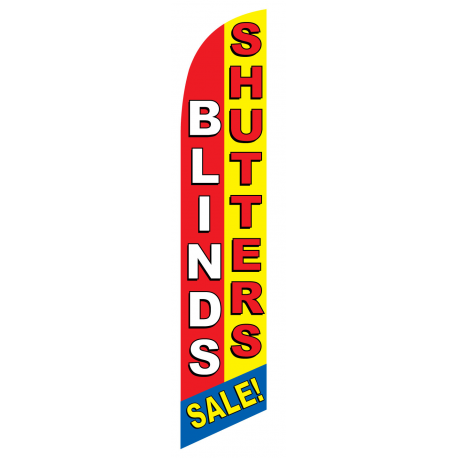 Blinds-Shutters Sale Feather Flag Red & Yellow 12ft Poly Knit width=