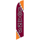 Loans Feather Flag Maroon & Orange 12ft Poly Knit